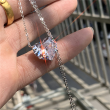 Fashion Lovers Pendant 15mm Heart cut AAAA zircon 100% 925 Sterling silver Party Wedding Pendant Nec