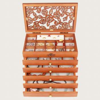 6 Floors Wood Jewelry Box Storage Display