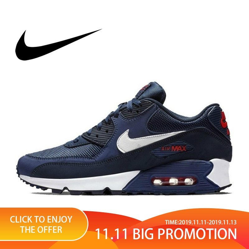 NIKE AIR MAX 90 Original Authentic Men's ESSENTIAL Running Shoes Sport Outdoor Sneakers Comfortable Durable Breathable 2019 New