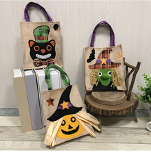 1pc Sugar Carry Bags Of Cat Witch Pumpkin  Halloween Decor Tote 16x19cm Creative Style Cookies New
