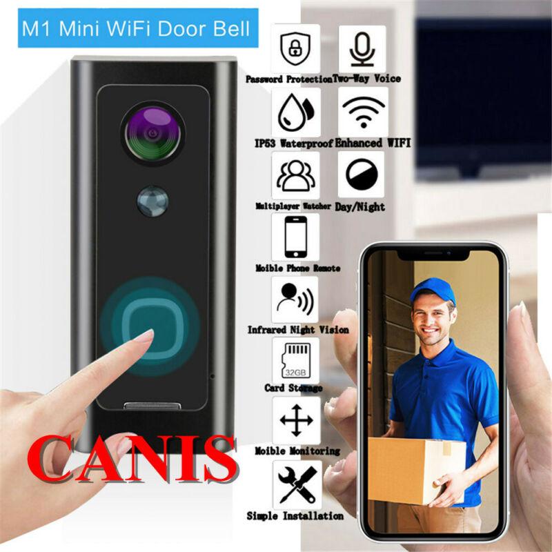 Wireless Smart WiFi DoorBell IR Video Visual Camera Interphone Home Security Kit