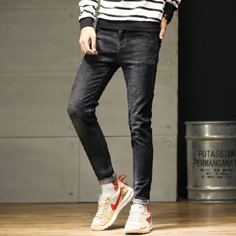 Autumn And Winter New Style Jeans Men's Fashion Elasticity Skinny Pants Korean-style Ultra-stretch Popular Brand Top Grade Trous