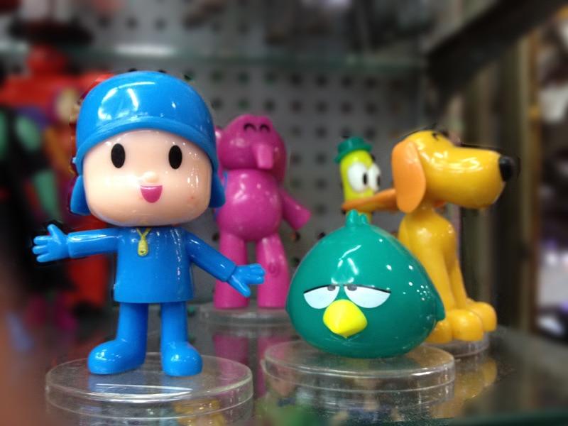 Small P Youyou Garage Kit Pocoyo Zinkia Elephant Duck Big Yellow Dog 5-Decoration Toy