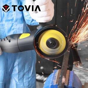 Image 5 - TOVIA 125 millimetri Angle Grinder Elettrico 950W di Macinazione Macchina A Velocità Variabile di Taglio Rettifica Legno Metallo Grinder M14