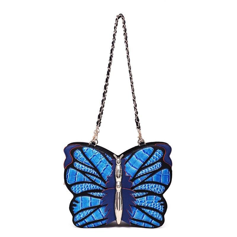 Sac femme sac à bandoulière à main sac de messager sac à bandoulière multifonction couleur sac papillon en trois dimensions sac de forme animale