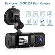 Blueskysea  Car DVR HD H190 Dash Camera 1.5 500 Pixels Dual Lens Cam DVRs Loop Recording Parking Monitoring G-Sensor