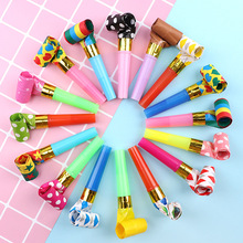 50pcs Colorful Blowouts Whistles Blowing Dragon Kids Birthday Party Baby Birthday Supplies Toys Gifts Favors Decoration 10pcs self ink stamps kids party favors event supplies drawing toys for birthday party toys boy girl stamps toys