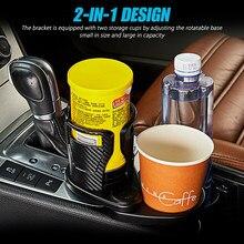 2 in1 çok fonksiyonlu araç monte su bardağı içecek tutucu ayarlanabilir dönebilen tasarım içecek kahve fincanı şişe tutucu