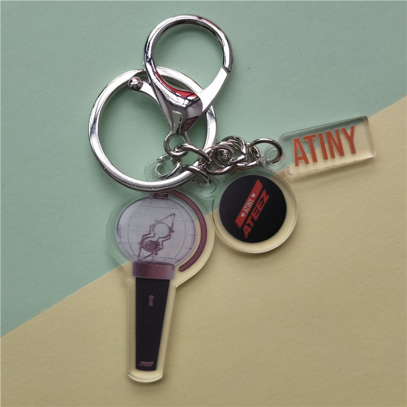 KPOP ATEEZ Key Chain Keyring Action To Answer HONG JOONG SAN YUN HO YEO SANG WOO YOUNG MINGI