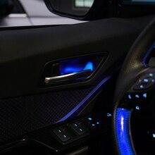 Front Rear Door Handle Bowl Light For Toyota CHR 2018 Red Blue Atmosphere Door Bowl Lamp Light For Toyota C HR 2017 2018 2019