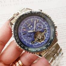 Men Watch Mechanical-Watches Automatic-Wristwatch-Skeleton AAAAA Clock Dial Luminous-Pointer