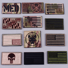 Pulaqi Seal Team Velcros Patch Punisher Patch Embroidered Patches For Clothing Military Badges Stripes Tactical flag patches F pulaqi camo seal team velcros patch army military magic patch stripes fabric navy seals patches for clothing badges appliques