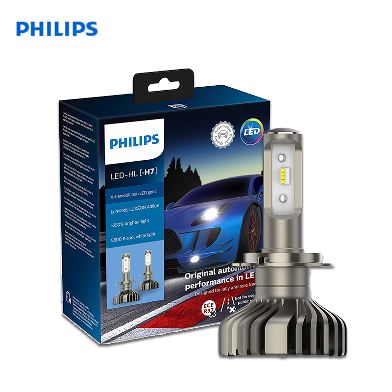 Philips 11972XUWX2 Luce Della Testa Dell'automobile 2 PCs LED-HL H7 12V PX26d 5800K 25W X-tremeUltinon LED gen2 Lungo Raggio vicino alla luce