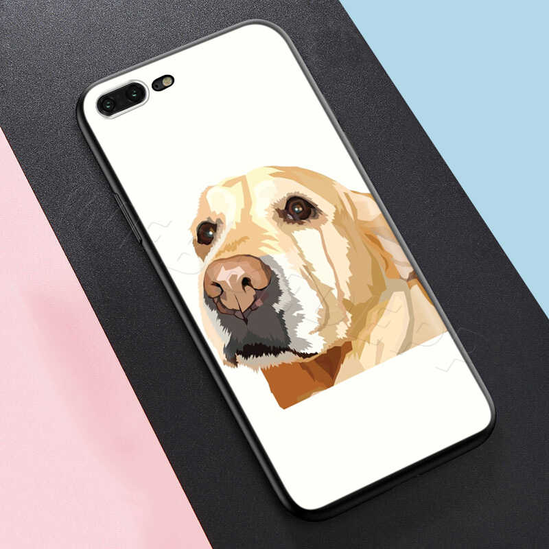 Webbedepp حزين لابرادور الكلب الحال بالنسبة لابل آيفون 11 برو XS ماكس XR X 8 7 6 6S زائد 5 5s SE