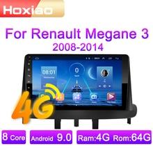 Автомагнитола 2 DIN, 4G, Android 9, мультимедийный видеоплеер для Renault Megane3 2008, 2009, 2010, 2011-2014, GPS-навигация, аудио, 2 DIN