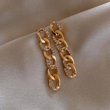 Dangle Earrings Trendy Women Geometric Elegant Fashion Crystal Joker Contracted Sweet