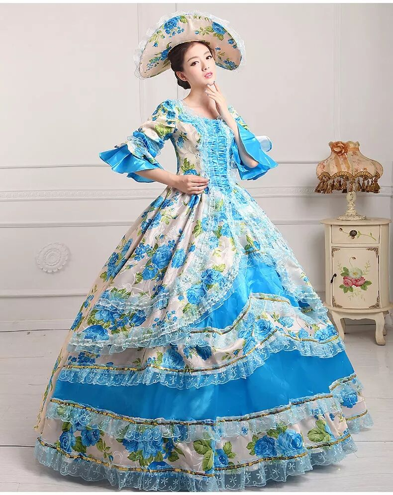 European Court Costume Sissi Halloween Princess Dress Cinderella Cosplay Costume