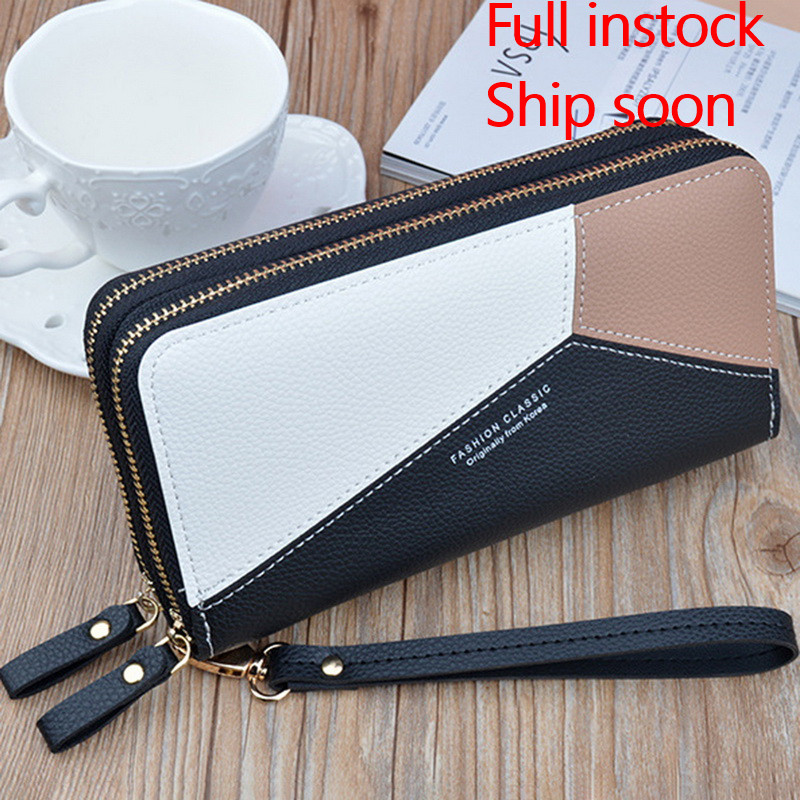 Wallets Money-Bag Coin-Purses Clutch Credit-Card-Holder Tassel-Design Zipper Long Women title=