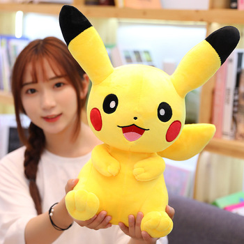 25/40/60cm Stuffed soft Animals Plush Toys Doll Pikachu Kids Sleeping Back pillow Cute Baby Accompany Kids Xmas Gift Boy Girl hamtoys 60cm cotton cushion plush hippo stuffed toys boy girl hippopotami sleeping pillow large soft toy for children kids sa21