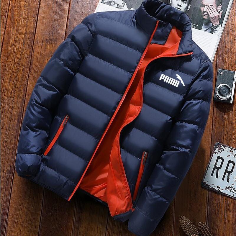 Зимняя мужская куртка 2020, модная мужская парка с воротником-стойкой, мужские однотонные толстые куртки и пальто, мужские зимние парки M-4XL