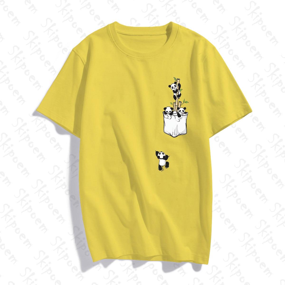 A Panda Dropped From His Pocket Women Tshirt Pink Aesthetic Vintage Harajuku Short Sleeve 8 Colors Cotton Streetwear Summer Tops|T-Shirts| - AliExpress
