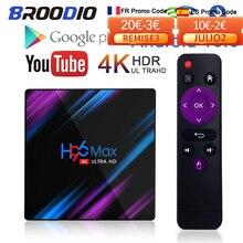 スマートTVボックスH96Max,Android 10,RK3318,16/32/64GB,1080p,YouTube,4K,Google音声付きデコーダー,9.0 p