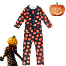 Kids Children Game Jack Gourdon Skin Cosplay Costume Zentai Bodysuit Suit Jumpsuits Halloween Mask