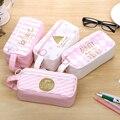 Корейский милый чехол-Карандаш для девочек  тканевый чехол-карандаш Estuche Escolar  розовый кавайный большой пенал  школьные принадлежности  канц...