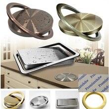 Столешница из нержавеющей стали, встроенная откидная крышка для свинга, мусорный желоб для мусора, кухонная ванна, Верхняя втулка, бронза, красное золото