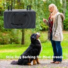 Ultrasonic Sonic Deterrent Silencer Pet Dog Outdoor Sound Battery Powered Powered