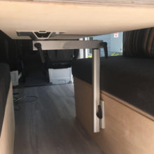 Rv tabela de dobramento perna e altura ajustável liga alumínio motorhome caravana camper mesa perna