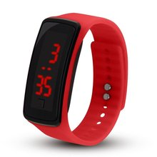 New Silicone Watchband Women Men LED Screen Sports Digital Watches Fashion Outdo