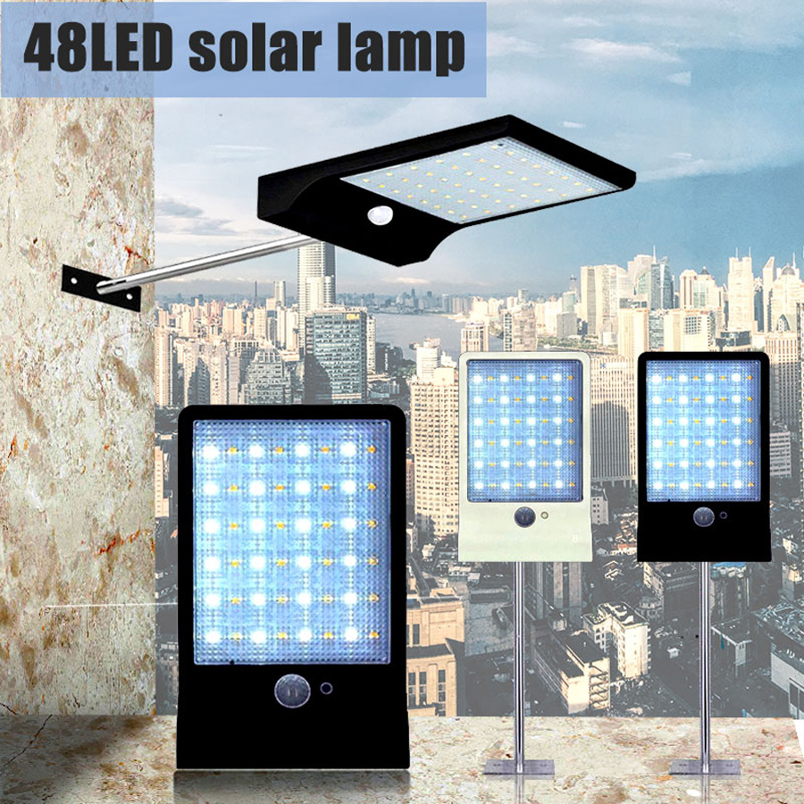 36LEDs PIR motion sensor Solar Straße licht 3 modi Outdoor solar licht wand lampe Wasserdicht Energiesparende Yard Pfad hause Garde (8)