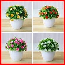 1pc plantas artificiais bonsai pequena flor vasos de plantas falsas flores vasos ornamentos para decoração de casa decoração do jardim do hotel