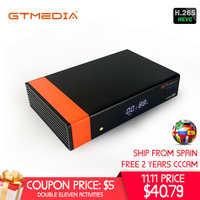 Gtmedia v8 nova de freesat v8 super tv receptor suporte embutido wi-fi h.265 DVB-S2 cline cccam caixa espanha tv decodificador