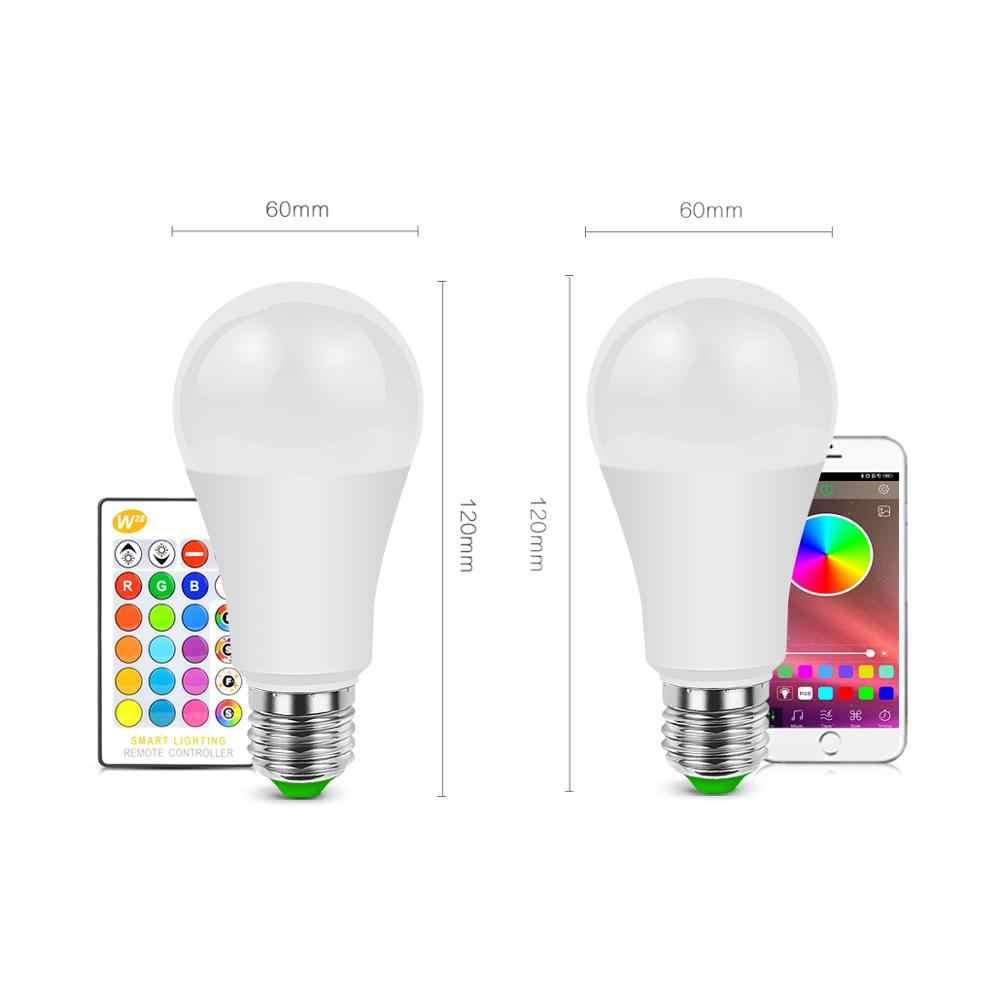 LED Smart WiFi ampoule Bluetooth 4.0 APP rvb RGBW RGBWW E27 lampe à LED 110V 220V Google Home/IR télécommande éclairage à la maison