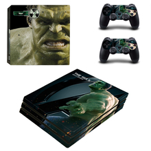 The Hulk Style Skin Sticker for PS4 Pro Console And Controllers Decal Vinyl Skins Cover YSP4P-3399