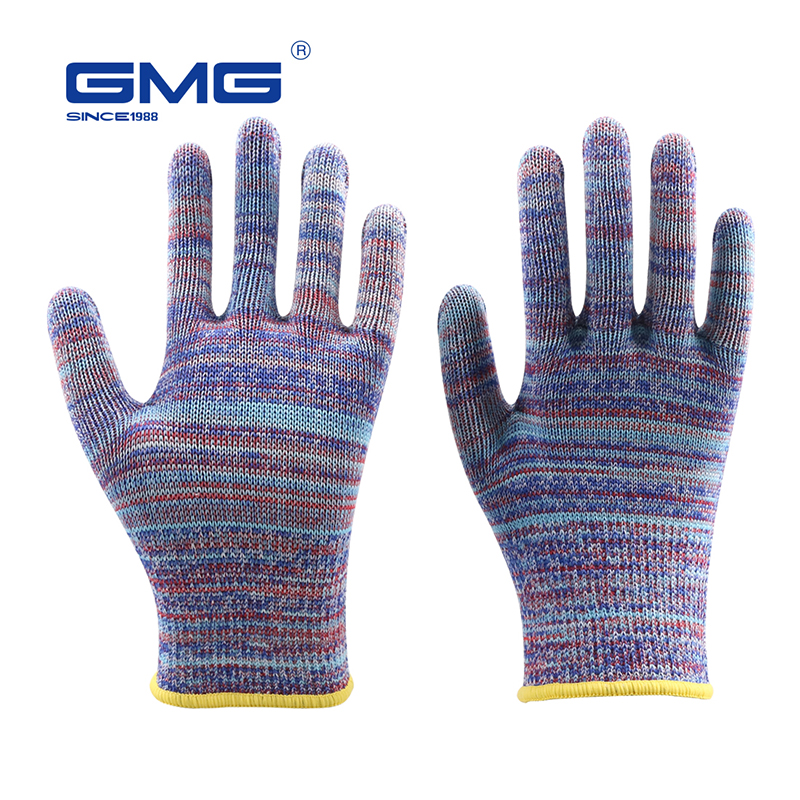 Hot Sale Cut Resistant Gloves GMG Multicolor HPPE EN388 ANSI Anti-cut Level 5 Anti Cut Gloves Cut Proof Protective
