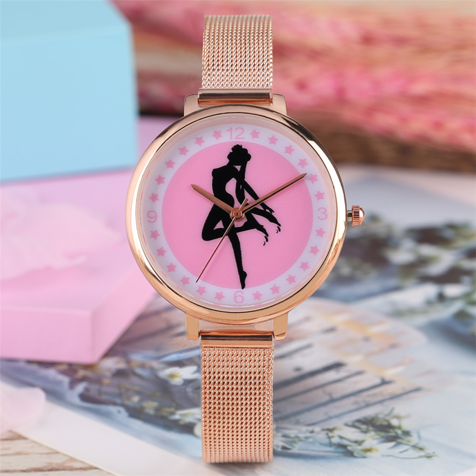 Customize Your Own Design on Dial Elegant Women Watches Students Wristwatches