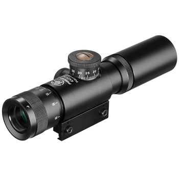 FIRE WOLF 4x21 Compact Hunting Air Rifle Scope Tactical Optical Sight Glass Etched Reticle Riflescopes With Flip open Lens Caps 2