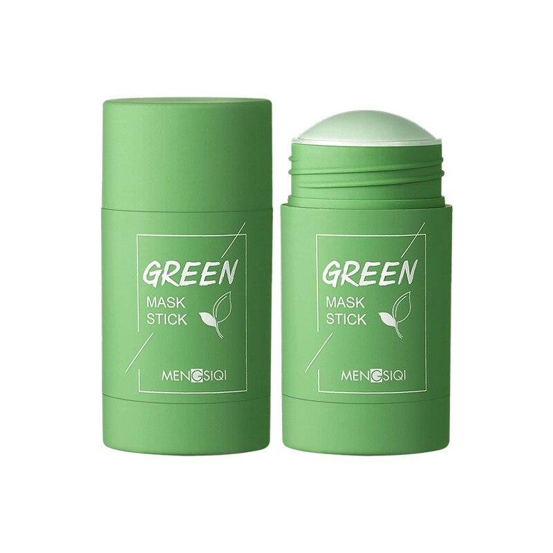 Chá verde limpeza argila vara máscara acne limpeza beleza pele chá verde hidratante hidratante clareamento cuidados com a pele rosto cuidados com a pele