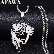 AFAWA 2020 Jesus Stainless Steel Necklaces & Pendants Women Silver Color Statement Necklace Jewelry gargantilla N4203S02 2019 family stainless steel necklace women jewlery silver color dad mum and son statement necklace jewelry gargantilla n18018