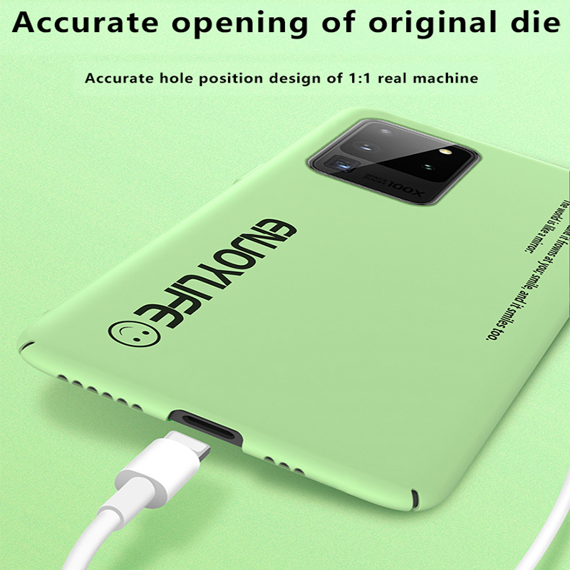 Ultra-thin Matte PC Phone Case For Samsung Galaxy S21 S20 S10 E S9 Note 20 10 9 Plus Shockproof Cover 5