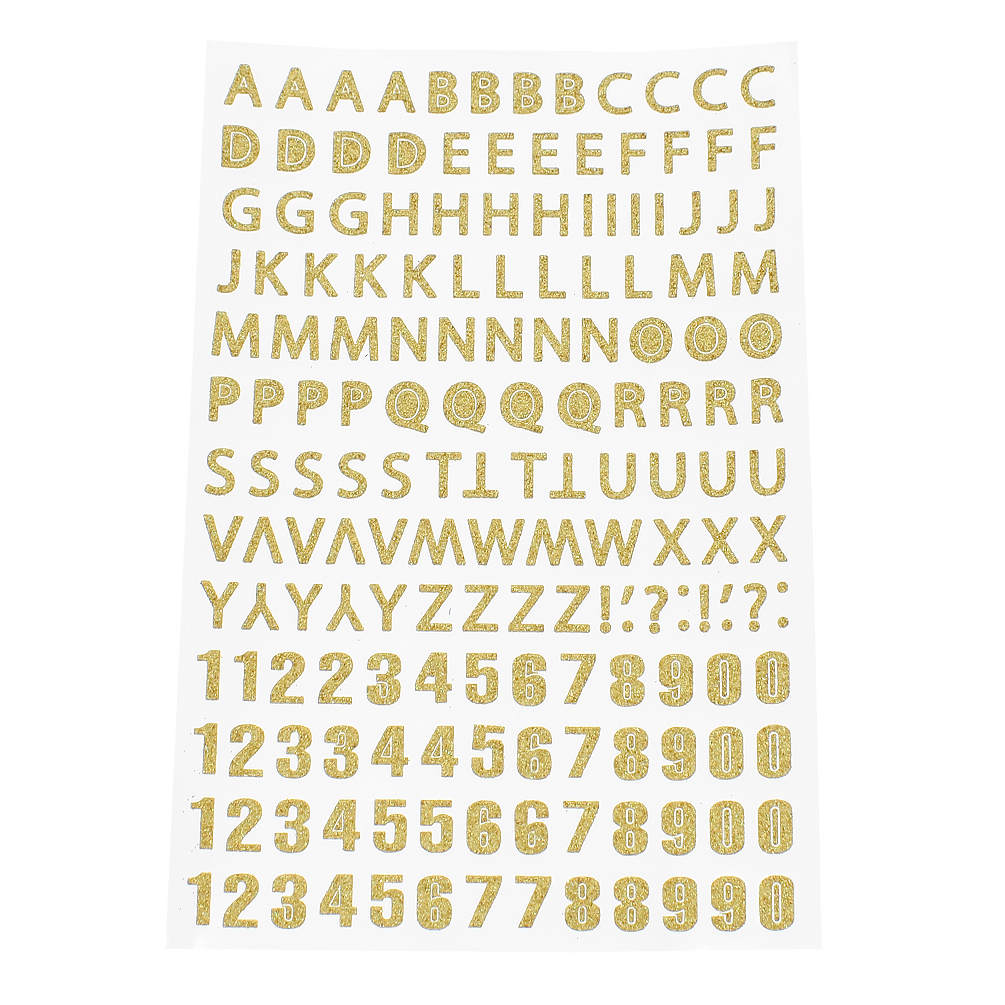 Small Shiny Gold Sticky Adhesive Letters Alphabet Labels Stickers Craft WD-4