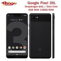 Oryginalny Google Pixel 3 XL pikseli 3XL pikseli XL3 Octa Core 4GB pamięci RAM 128GB ROM 9. W wieku 0 telefon komórkowy z NFC oryginalna szybka ładowarka