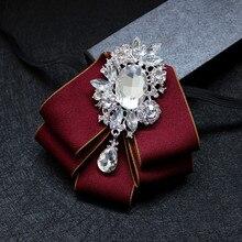 Британский дизайнер мужской костюм рубашка горный хрусталь галстук-бабочка модный мода высокое качество свадебные жених дети галстук-бабочка для мужчин аксессуары