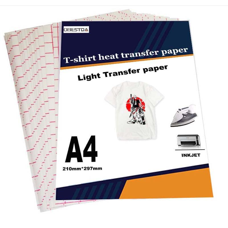 T-Shirt-Light Transfer-Paper Inkjet Fabric Sublimation Black Cotton Dark for Garment