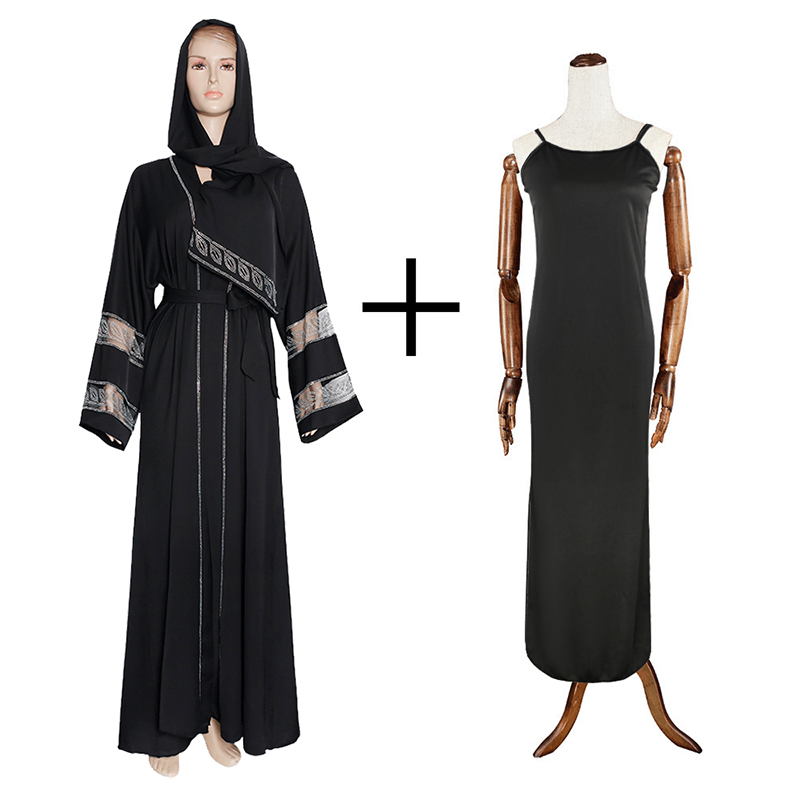 MD Bangladesh Muslim Hijab Abayas Women Dubai Caftan Robe Plus Size Boubou Woman Jalabiya Turkish Dresses