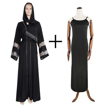 MD Bangladesh Muslim Hijab Abayas Women Dubai Caftan Robe Plus Size Boubou Woman Jalabiya Turkish