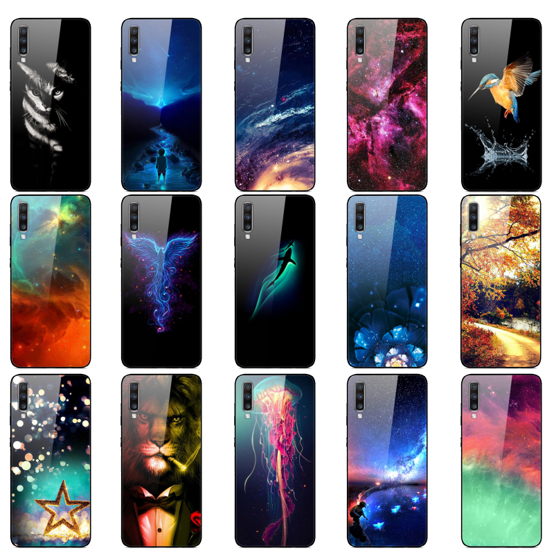 New Silicone Bumper For Samsung A70 Case 2019 Tempered Glass Phone Cover For Samsung Galaxy A70 Cases Coque Capa A 70 A705 A705F image